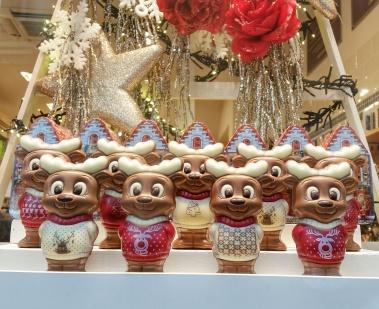 Елените на Дядо Коледа от белгийски шоколад